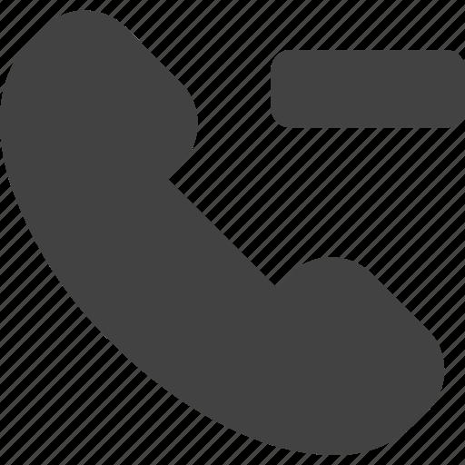 call, phone, remove icon
