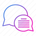 bubble, chat, communication, conversation, talk icon