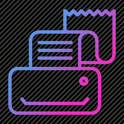 communication, fax, fax machine, printer, printing machine icon