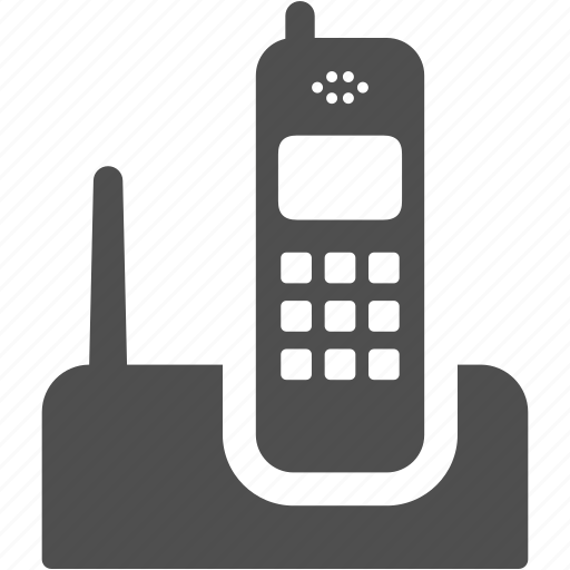 communication, cordless, dial, dialling, phone, radio, signal, telephone, wireless icon