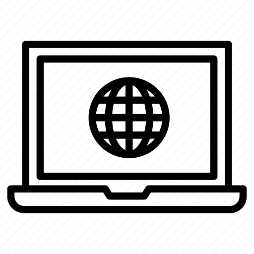 browser, computer, internet, laptop, webpage icon