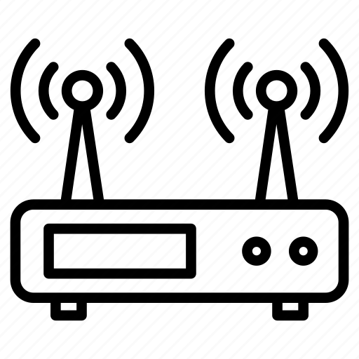 antenna, connection, modem, router, wireless icon