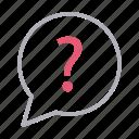 bubble, communication, faq, help, question