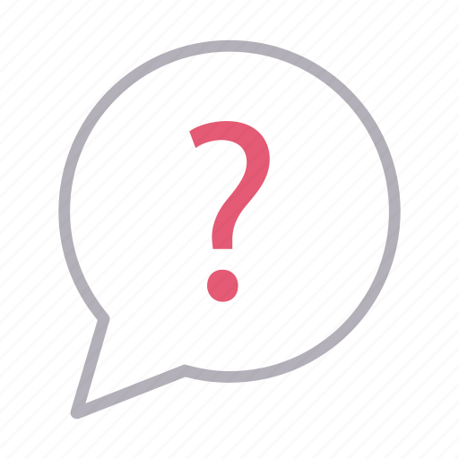 bubble, communication, faq, help, question icon