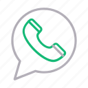 bubble, call, communication, phone, receiver icon