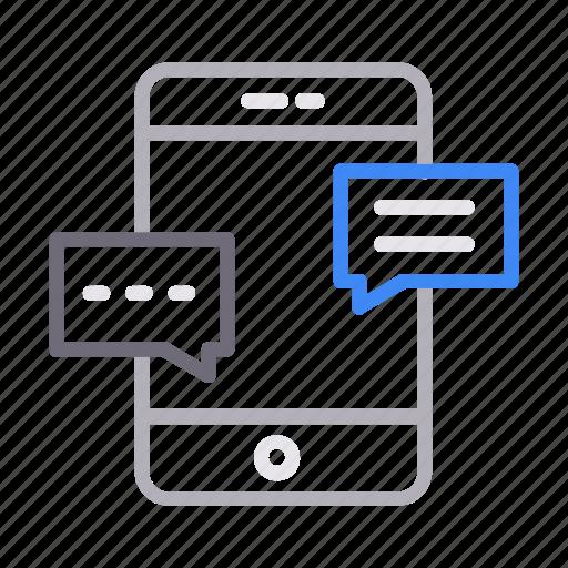 chat, communication, conversation, messages, mobile icon