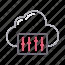 adjustment, cloud, control, equalizer, mixer icon