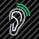 communication, ear, hear, listen, organ