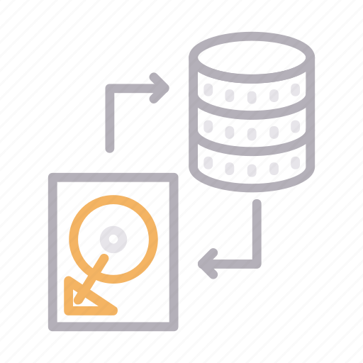 datatransfer, exchange, filesharing, harddisc, server icon