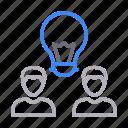 creative, employee, group, idea, team