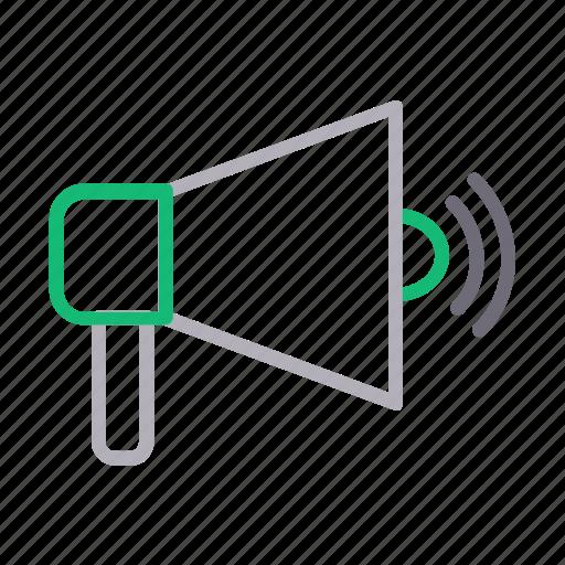 Announcement, bullhorn, loud, megaphone, speaker icon - Download on Iconfinder