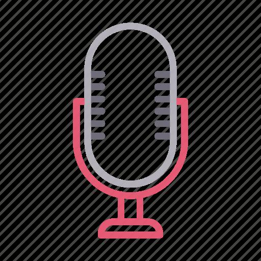 audio, communication, mike, recorder, speaker icon