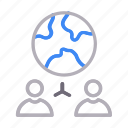 communication, connection, global, network, users icon