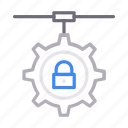 lock, network, protection, secure, setting icon