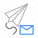 communication, email, message, paperplane, send icon