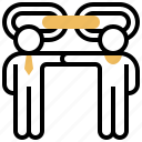 association, communication, connection, friend, relationship icon