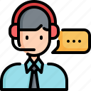 call, center, agent, customer, service, support icon