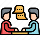 meeting, communication, speaking, conversation, chat icon