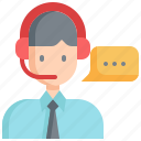 call, center, agent, customer, service, support, communication icon