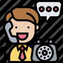 call, conversation, contact, operator, service