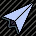paper plane, send, message, letter, communication