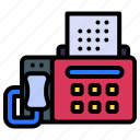 fax, fax machine, printer, device, technology