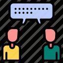 communication, discuss, discussion, conversation, communicate