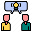 discussion, conversation, communication, idea, conclusion