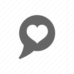 chat, heart, love, message icon