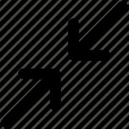 arrows, condense arrow, enlarge, enlargement arrow, expand, maximize, resize icon