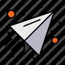 mail, paper, plane, send