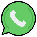 app, call, message, mobile, phone, whats, whatsapp icon
