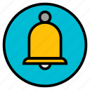 bell, hotel, reception, ringing, service icon