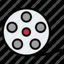 cinema, film, movie, reel, roll, video icon
