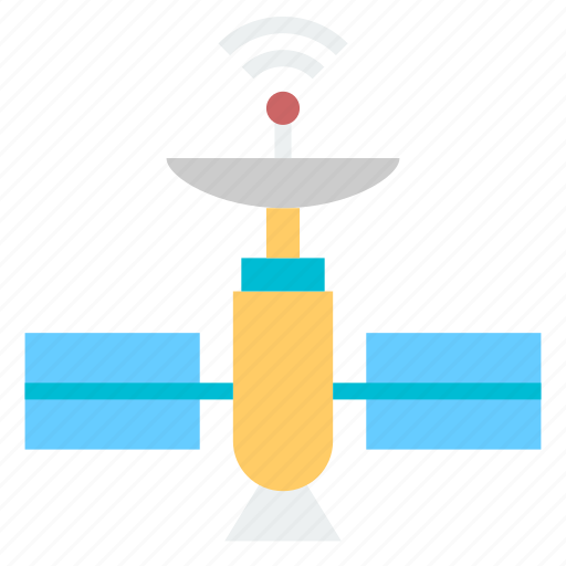 communication, gps, satellite, spacecraft, transmit, transmitter icon