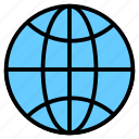 domain, earth, globe, internet, registration, website icon