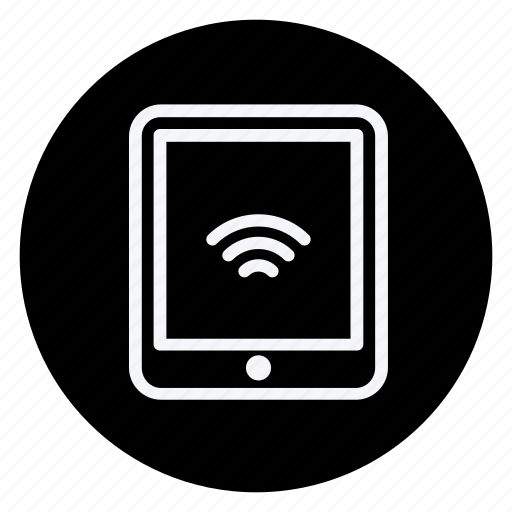 communication, network, tablet with wifi, technology, telephone, wifi, wireless icon