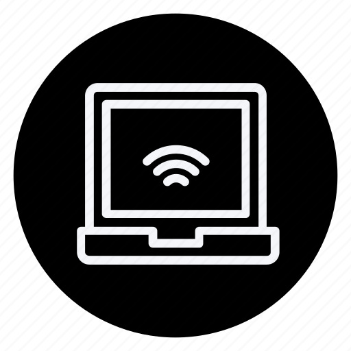 communication, computer, laptop, network, technology, telephone, wireless icon