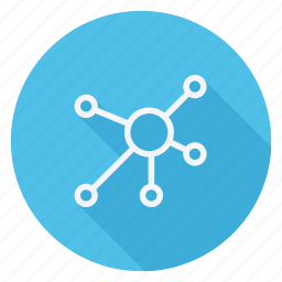 communication, connection, molecule, network, networking, technology, wireless icon