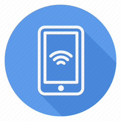 communication, mobile, network, networking, smartphone with wifi, technology, wireless icon