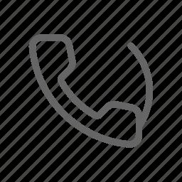 call, line, phone, telephone icon
