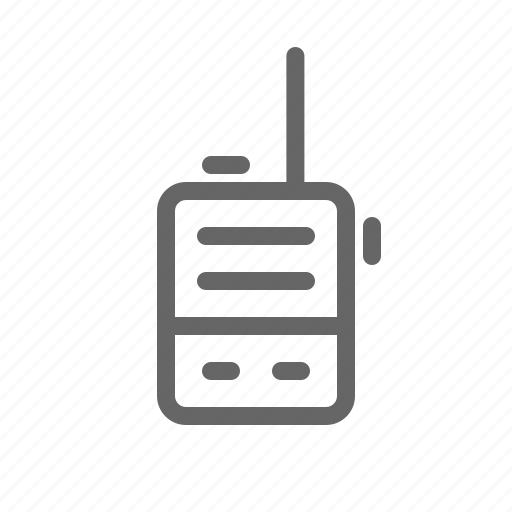 communication, phone, radio, walky talky icon