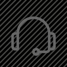 customer care, customer service, headphone, headset icon