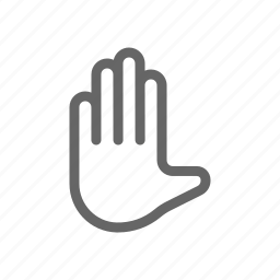 communication, gesture, hand icon