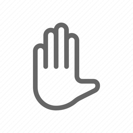 hand gesture, sign language, stop, touch gesture icon