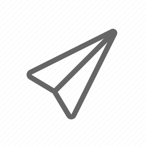 message, paper plane, send, toy icon