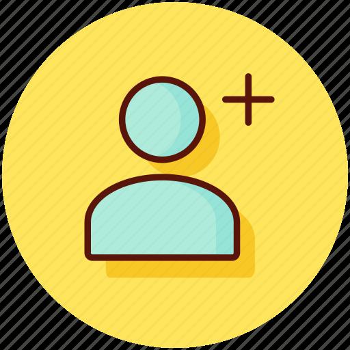 account, add, friend, user icon