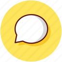 chat, chatting, comment, conversation, message, sms icon