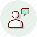 chat, conversation, messanger, talk, user icon