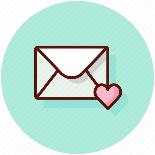 email, heart, love, mail, message, valentine icon